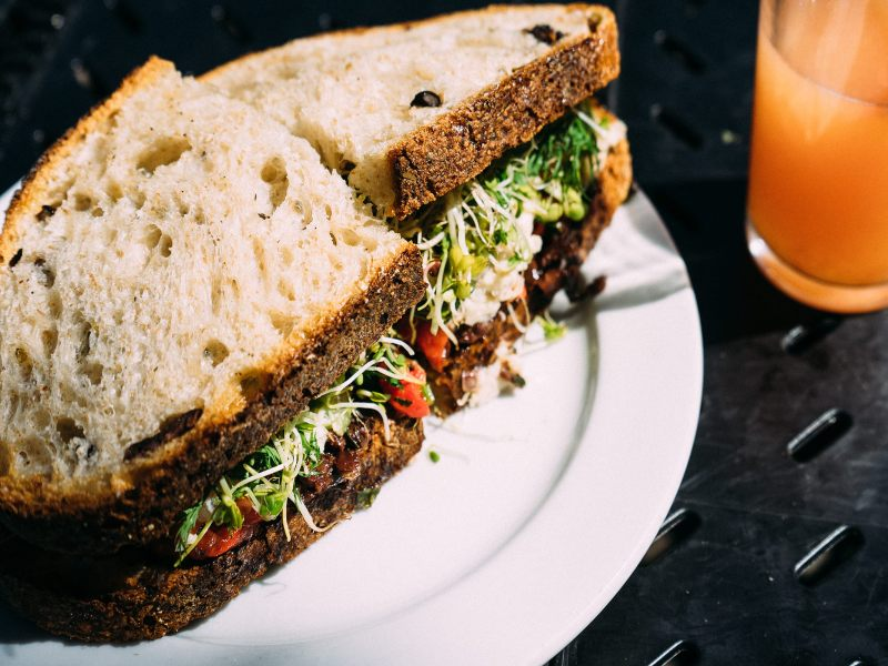 B and H Dairy sandwich vegetariano