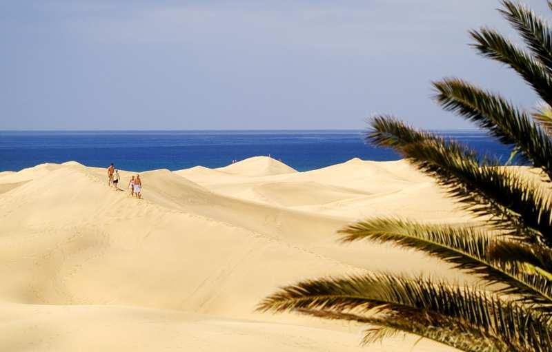 enormes dunas en maspalomas